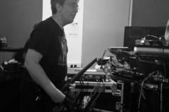 Steve Hillage at The Orb anniversary concert rehearsal